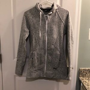 Heathered Grey Under Armour Zip Up